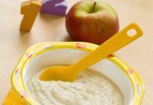 Elmalı yulaflı püre 6 ay ve sonrası bebekler için