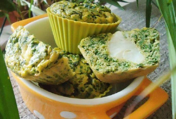 Ispanaklı muffin 1 yaş ve sonrası çocuklar için