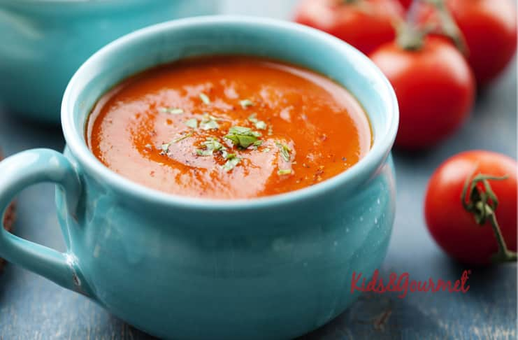 Şehriyeli domates çorbası 1 yaş sonrası