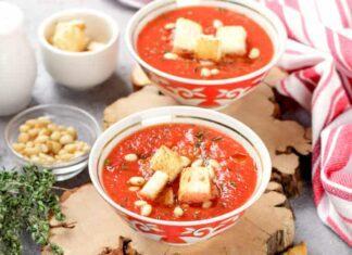 Kırmızı kapya biber çorbası 1 ve üzeri